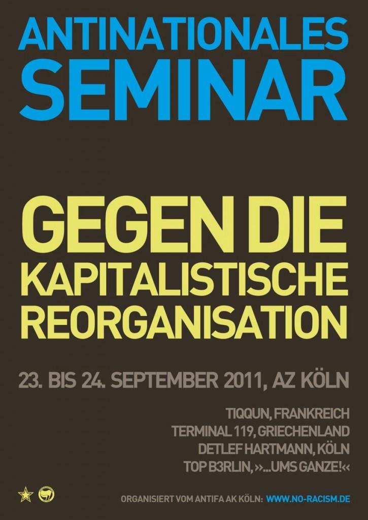 Antinationales Seminar Plakat