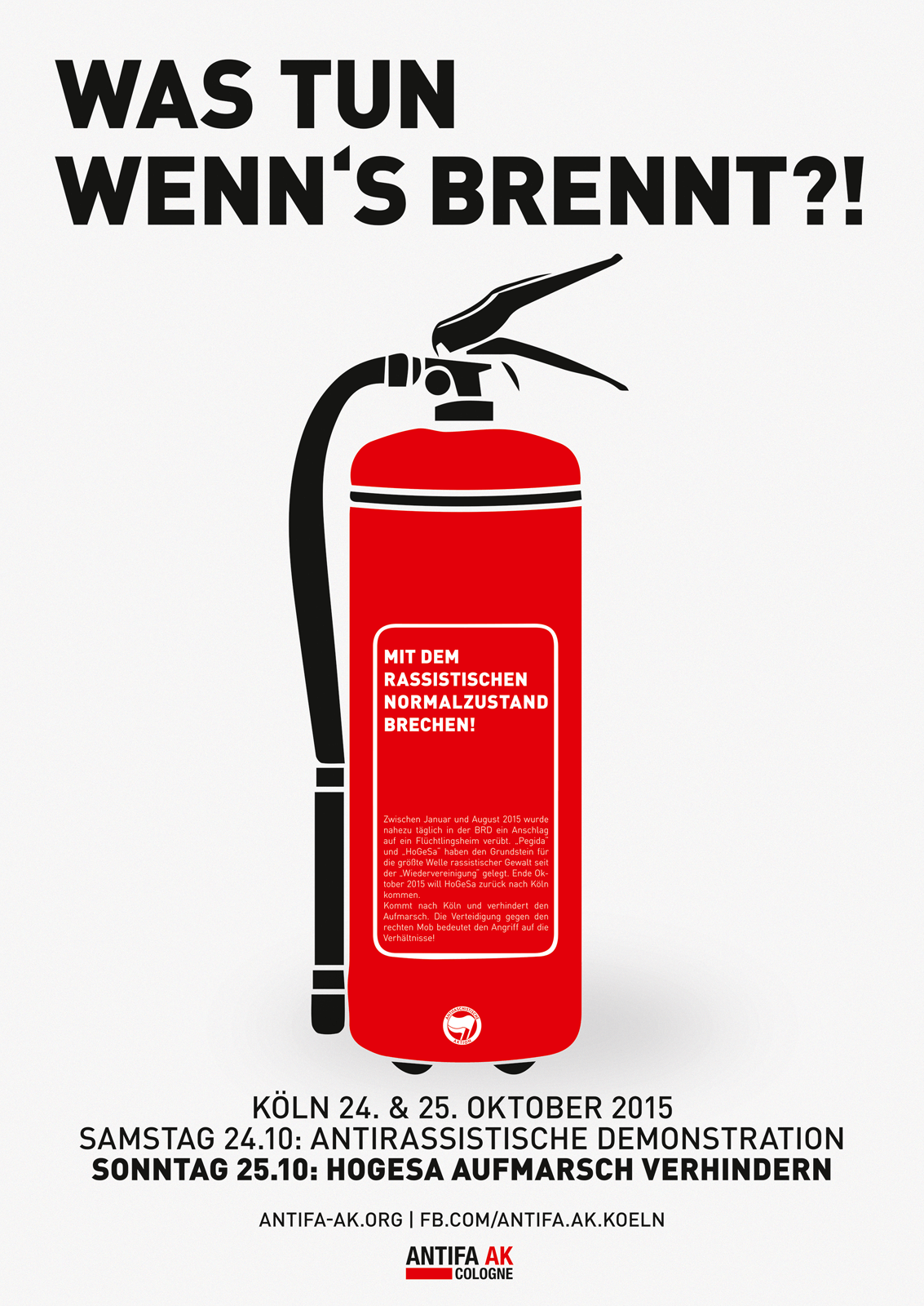 Was tun wenns brennt Plakat