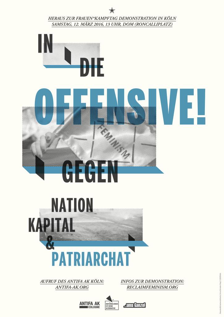 Plakat des Antifa AK zum Frauen*kampftag 2016