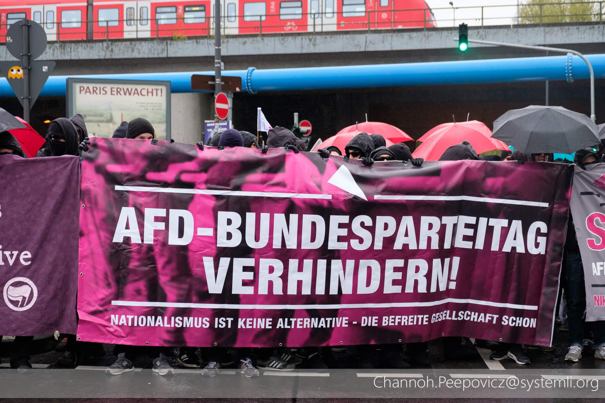 Blockade in Deutz