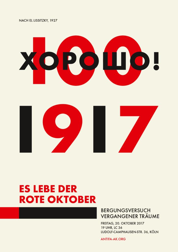 Plakat: 100 Jahre Oktoberrevolution