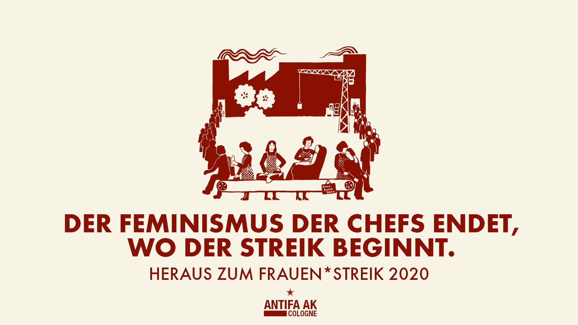 frauen*streik 2020 banner antifa ak