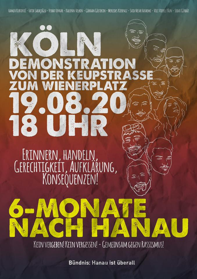 Plakat für Demonstration